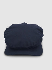 Waterproof Wool 106 Flat Cap, Navy Blue
