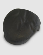 Load image into Gallery viewer, Nappa Leather 111 Flat Cap, Black
