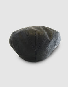 Nappa Leather 111 Flat Cap, Black