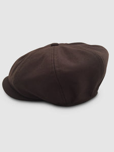 Waterproof Wool 201 Newsboy Cap, Brown