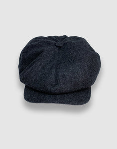 Waterproof Wool 201 Newsboy Cap, Grey Melange