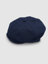 Load image into Gallery viewer, Waterproof Wool 201 Newsboy Cap, Navy Blue