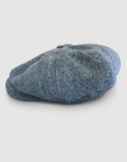 Pure Wool 203 Newsboy Cap, Grey Melange