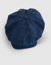 Load image into Gallery viewer, Pure Wool 203 Newsboy Cap, Speckled Blue