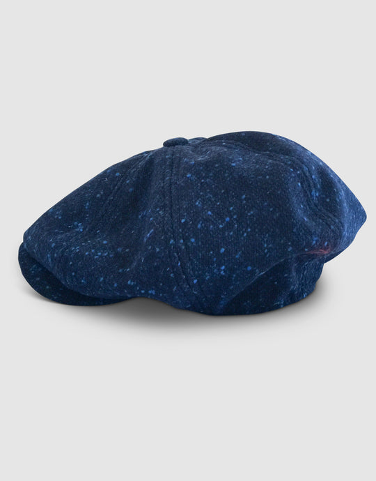 Pure Wool 203 Newsboy Cap, Speckled Blue