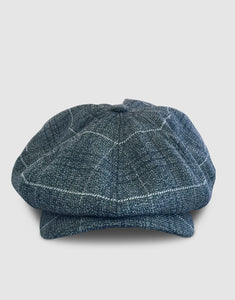 Pure Wool 203 Newsboy Cap, Grey Spiderweb