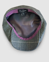 Load image into Gallery viewer, Pure Wool 203 Newsboy Cap, Grey Spiderweb
