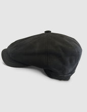 Load image into Gallery viewer, Nappa Leather 211 Newsboy Cap, Black