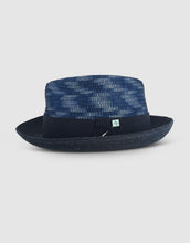 Load image into Gallery viewer, Straw & Braid 307 Fedora Hat, Black and Blue