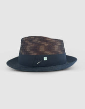 Load image into Gallery viewer, Straw & Braid 307 Fedora Hat, Black and Brown