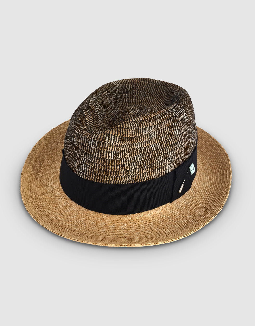 Straw & Braid 307 Fedora Hat, Natural and Beige
