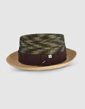 Load image into Gallery viewer, Straw & Braid 307 Fedora Hat, Natural and Green