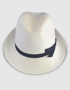 310 Brisa Panama Fedora Hat, Natural and Black