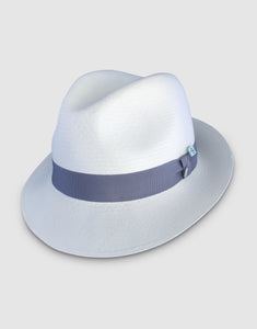 310 Superfine Panama Fedora Hat, Natural and Grey