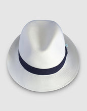 Load image into Gallery viewer, 310 Superfine Panama Fedora Hat, Natural and Navy