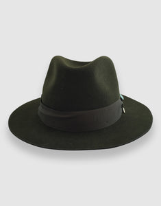 Merino Wool Felt 365 Fedora, Forest Green