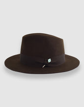 Load image into Gallery viewer, Merino Wool Felt 365 Fedora, Chestnut Brown