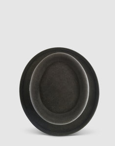 401 Rabbit Felt Pork Pie Hat, Grey