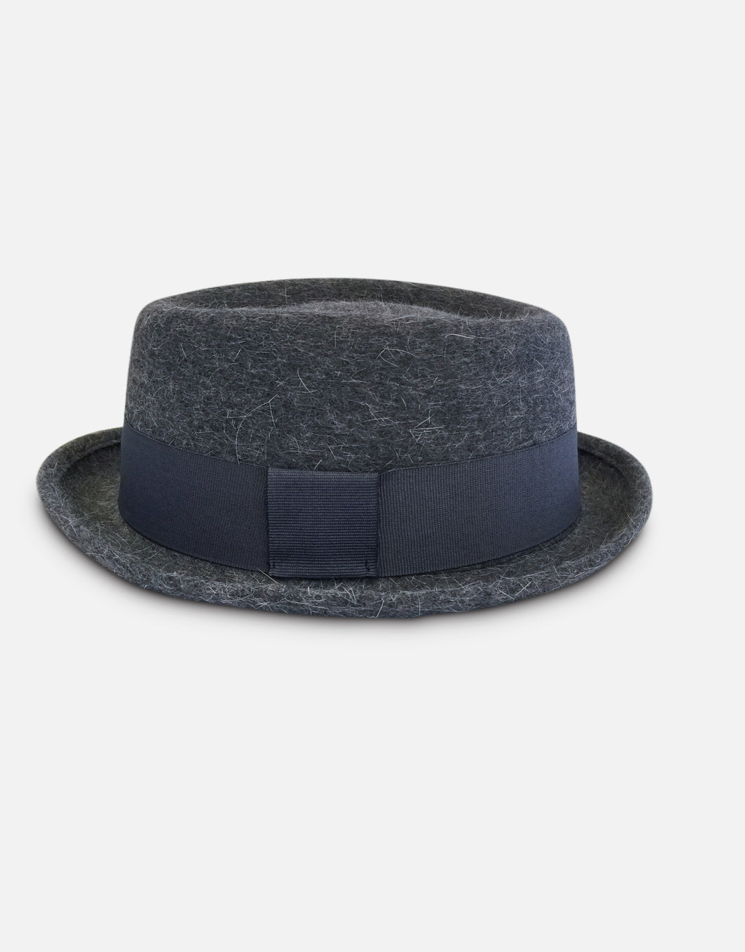 402 Rabbit Felt Pork Pie Hat, Grey Marl