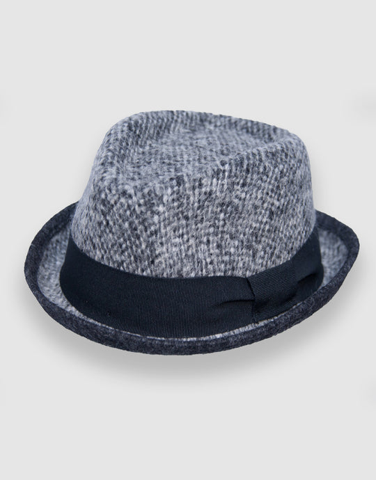 403 Wool Felt Pork Pie Hat, Grey Marl