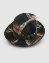 Load image into Gallery viewer, 502 Tweed Wool Felt Homburg, Brown Tartan