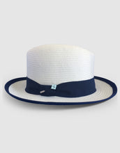Load image into Gallery viewer, 506 Straw Homburg, White