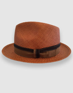 703 Quito Panama Trilby Hat, Rusty Brown