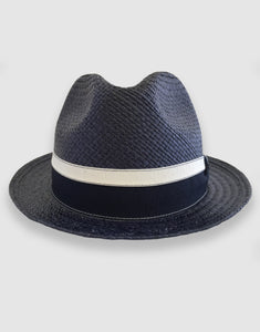 703 Quito Panama Trilby Hat, Navy