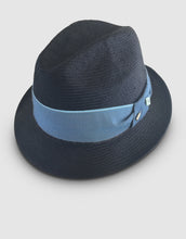 Load image into Gallery viewer, 708 Parasisal Straw Trilby Hat, Navy