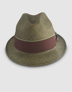 708 Parasisal Straw Trilby Hat, Olive Green