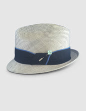Load image into Gallery viewer, 708 Parasisal Straw Trilby Hat, Silver