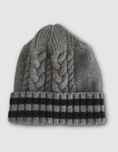 Load image into Gallery viewer, 836 Cable Knit Wool Beanie Hat, Grey