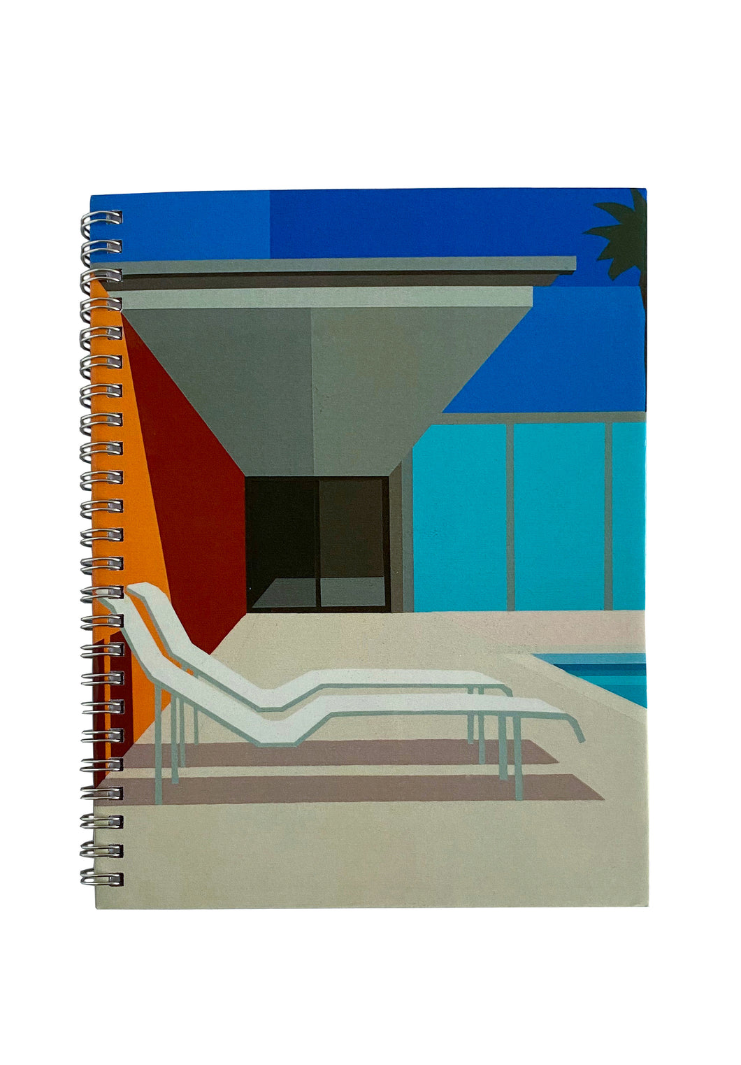 Spiral A5 Notebook, California Pool