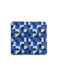 Leather Coaster, Blue Abstract