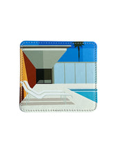 Load image into Gallery viewer, Leather Coaster, California Pool