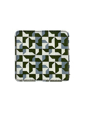 Load image into Gallery viewer, Leather Coaster, Green Abstract