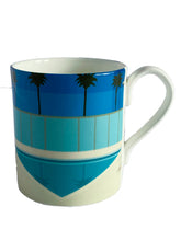 Load image into Gallery viewer, Bone China Mug, California Pool