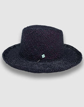 Load image into Gallery viewer, 520 Straw Homburg Hat, Black