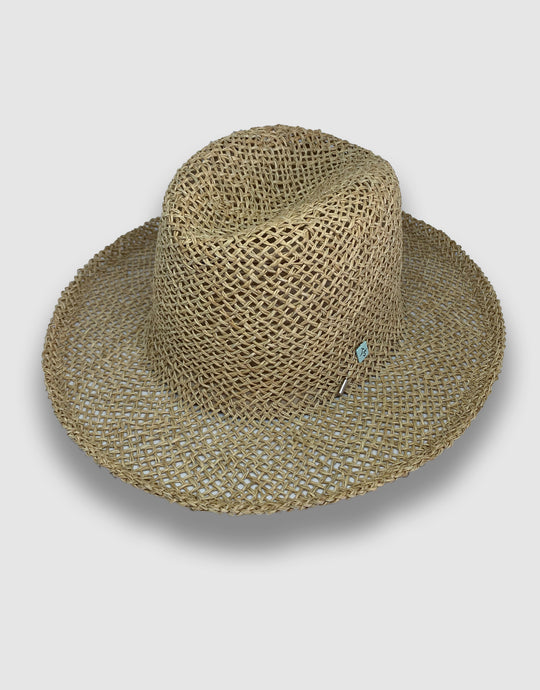 520 Straw Homburg Hat, Natural