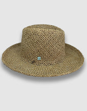 Load image into Gallery viewer, 520 Straw Homburg Hat, Natural