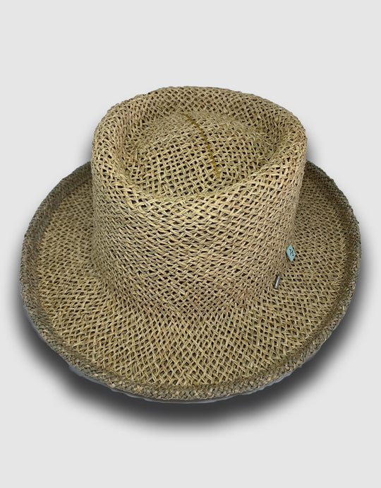 420 Straw Pork Pie Hat, Natural