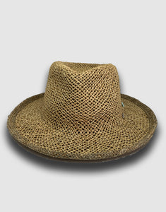 320 Straw Fedora Hat, Natural