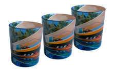 Load image into Gallery viewer, Glass Tea Light Candle Holders, Brazil House 3 Set