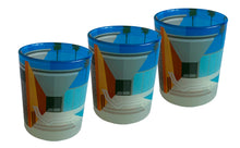 Load image into Gallery viewer, Glass Tea Light Candle Holders, California Pool 3 Set
