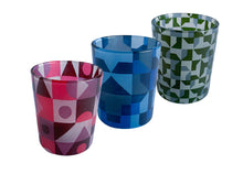 Load image into Gallery viewer, Glass Tea Light Candle Holders, Mixed Abstract 3 Set