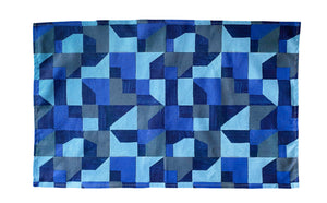 Tea Towel, Blue Abstract