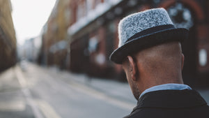 403 Wool Felt Pork Pie Hat, Brown Herringbone