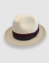 Load image into Gallery viewer, 303 Panama Fedora Hat, Natural and Grey