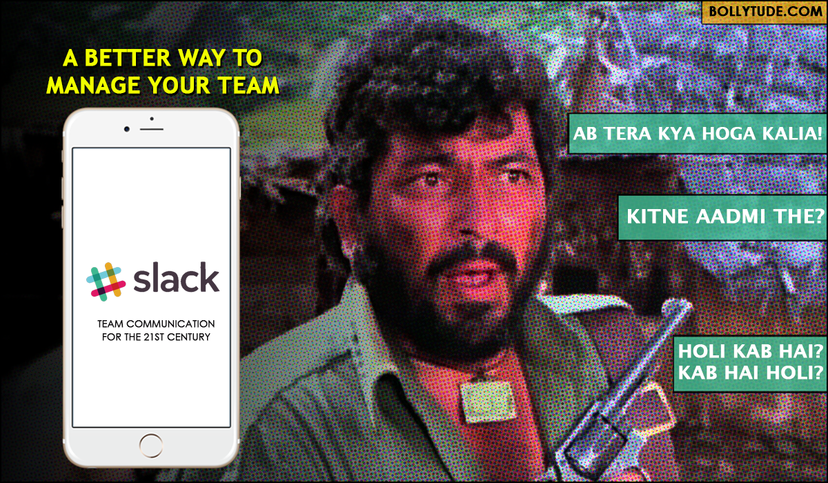 Funny Bollywood ad campaign for Slack. Gabbar Singh Dialogue from Sholay. Kitne aadmit the