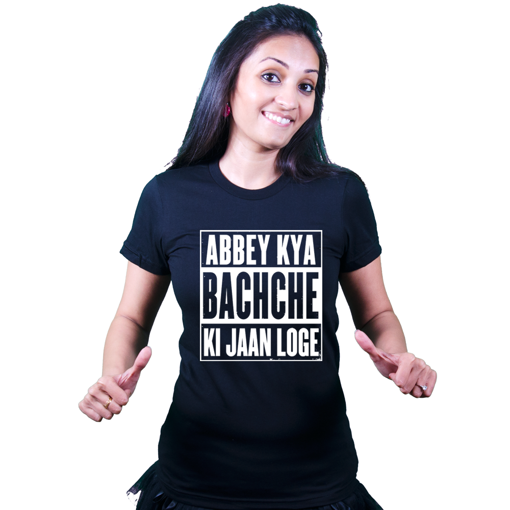 Abbey Kya Bachche Ki Jaan Loge | Bollywood T-shirt | Akshay Kumar | Fuuny Graphic Tops